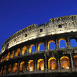 Colosseum ruin of Rome at night — Stock Photo