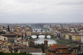 City scape of Florence in raining — Stock Photo