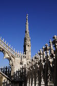 Architecture of Milan cathedral — Stock Photo