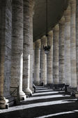 Corridor with pillar in Vatican city — Stok fotoğraf