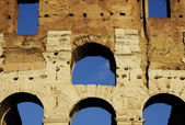 Colosseum wall of ancient Rome — Stock Photo