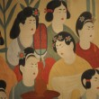 Ancient painting of  Dunhuang Grottoes - Foto Stock