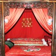 Ancient bed for marry — Stock Photo