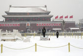 Landmark of tiananmen square in beijing — Stock Photo