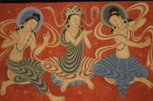 Mural painting of Dunhuang Grottoes — Stock Photo