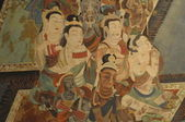 Buddhism painting of Dunhuang Grottoes — Стоковое фото