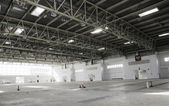 Big empty warehouse — Stock Photo