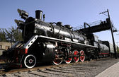 Steam power train of old style — Stock Photo
