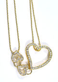 Jewelry with heart figure — Stock Photo