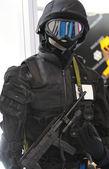 Anti terrorist soldier — Stock Photo