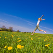 Woman on meadow — Stock Photo #2171913