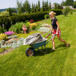 Female gardening — Stock Photo