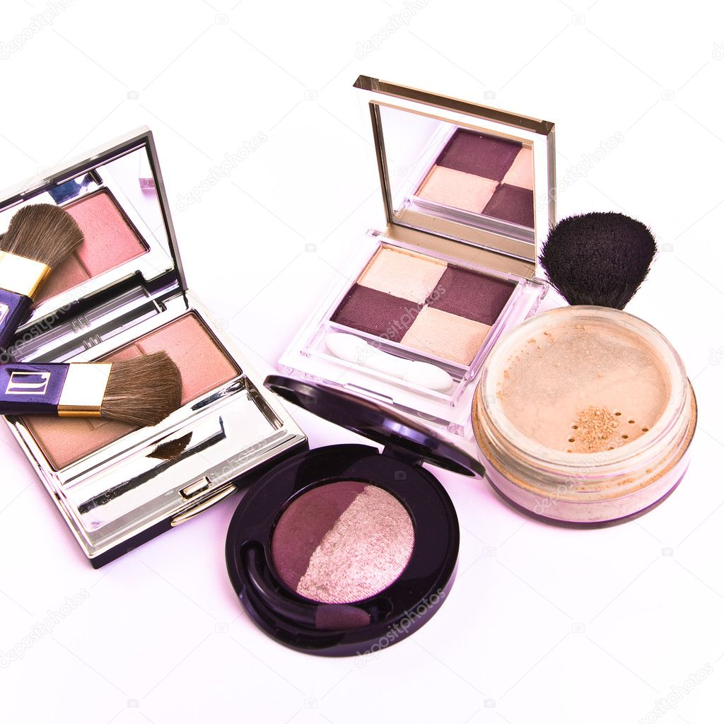 Makeup collection on white background  Stock Photo #2170703