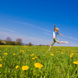 Woman on meadow — Stock Photo #2182787