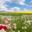 Woman on meadow — Stock Photo #2182880