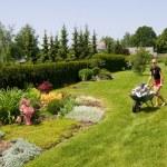 Woman gardening — Stock Photo