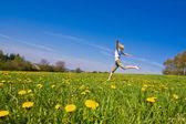 Woman on meadow — Stock Photo