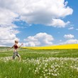 Woman on meadow — Stock Photo #2201996