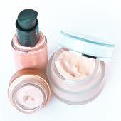 Creams and makeup — Stock Photo