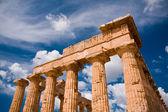 Greek temple in Selinunte — Stock Photo