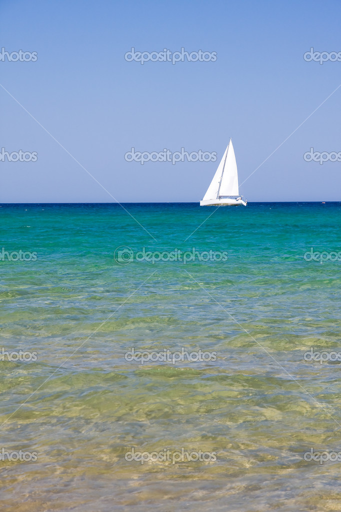 Beautiful exotic beach in Mediterranean  Stock Photo #2308432