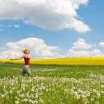 Woman on meadow — Stock Photo #2315853