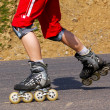 Stock Photo: Rollerskating