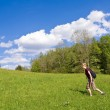 Woman on meadow — Stock Photo #2344711