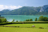 Mondsee lake — Stock Photo