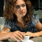 Beautiful girl with coffee — Stock Photo #2244224