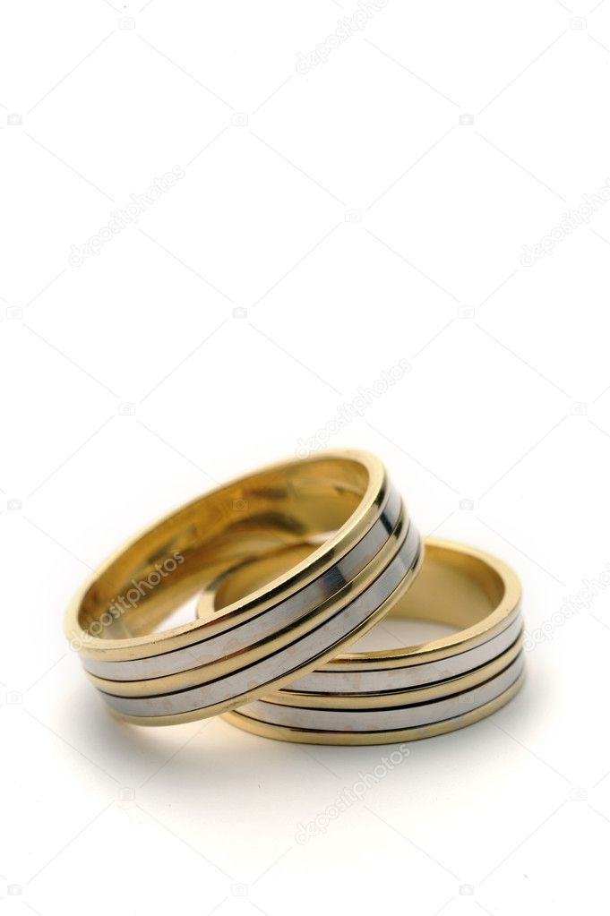 Wedding rings on a nice white background — Stock Photo #2247451