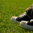 Shoes on grass - Stock Photo