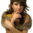 Glamorous woman with hat — Stock Photo