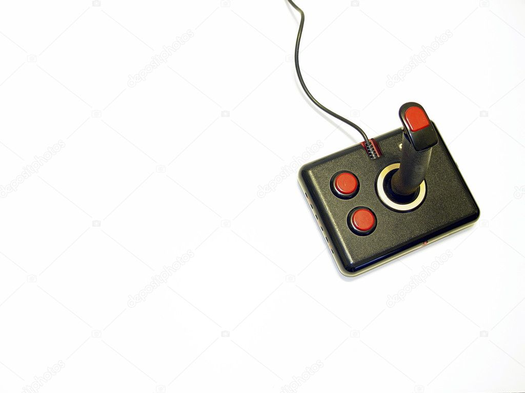 Retro black and red computer game controller                              — Stock Photo #2278452