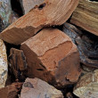 Wood Chunks - Stock Photo