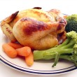 Cornish Hen Plate - Stock Photo
