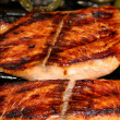 Grilled Salmon Steaks - Foto Stock