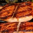 Grilled Salmon Steaks - ストック写真