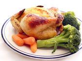 Cornish Hen Plate — Stock Photo