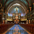 View interior of the Notre-Dame Basilica — Stock fotografie