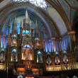 View interior of the Notre-Dame Basilica - Stock Photo