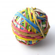 A ball made with elastic bands — Stock Photo