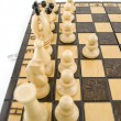 Whites first move — Stock Photo