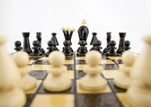 Whites before the chess game — Stock Photo