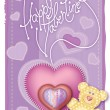 Greeting Card Valentines Day — Stock Vector