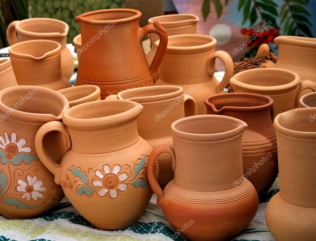 clay pots stock photo baryshpolets 2152301. Black Bedroom Furniture Sets. Home Design Ideas