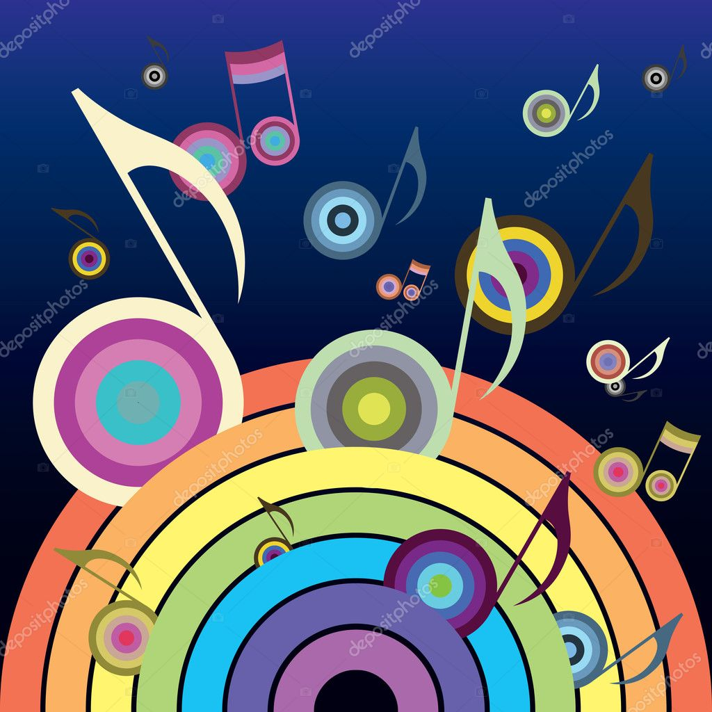Music Rainbow — Stock Vector #2169575