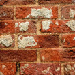 Stock Photo: Old red brick wall as background