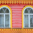 Stock Photo: Two vintage vivid windows
