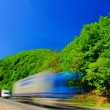Stock Photo: Heavy truck, motion blur